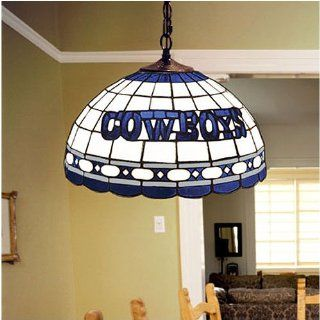 Dallas Cowboys NFL Stained Glass Hanging Ceiling Lamp