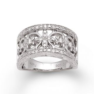 Sterling Silver 1/3ct TDW Diamond Vintage inspired Ring