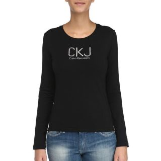 CALVIN KLEIN JEANS T Shirt F noir   Achat / Vente T SHIRT CALVIN KLEIN