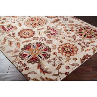 Hand tufted Whimsy Ivory Floral Wool Rug (8 x 11)