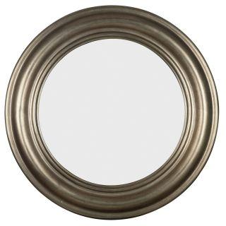 Pasco Round Anique Silver Wall Mirror