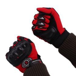 Motorcycle Red Protective Riding Gloves