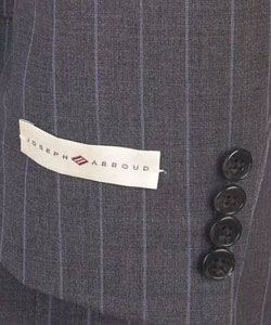 Joseph Abboud Grey Stripe Three button Suit