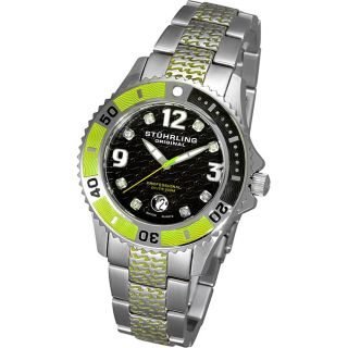 Stuhrling Original Green Midsize Regatta Valiant Diver Watch