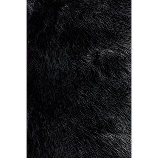 Jungle Black Faux Sheepskin Rug (2 x 3)