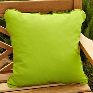 Clara Outdoor Green Throw Pillows Made with Sunbrella (Set of 2