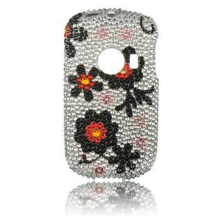 Luxmo Huawei M835 Black Daisy Rhinestone Protector Case