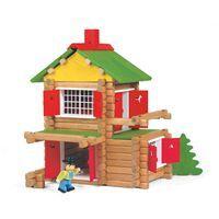 Jeujura   Jeu de construction en bois teinté 135 pièces   Pour