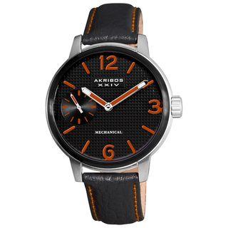Akribos XXIV Mens Mechanical Strap Watch