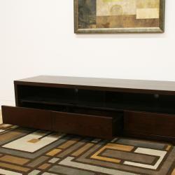 Jairo Dark Brown Wood Modern TV Stand