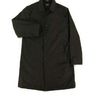 Hugo Boss Fend Black Button Down Coat Black 46R Clothing