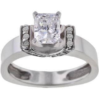 Michael Valitutti 14k White Gold 1 1/5ct TDW Diamond Ring (I J, SI2