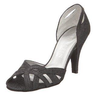 York Womens Sutton Two Piece Glitter Pump,Black Glitter,6.5 M Shoes