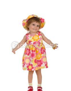Стоковая фотография — Cute little girl in summer