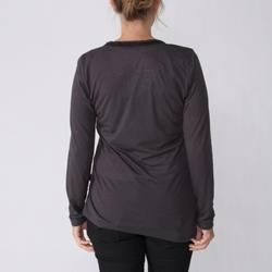 California Bloom Womens Long Sleeve Graphic V Neck Top