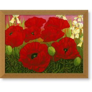 John Newcomb Poppies and White Irises Art