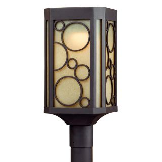 Circles 1 light Bronze LED Outdoor Post Head Light