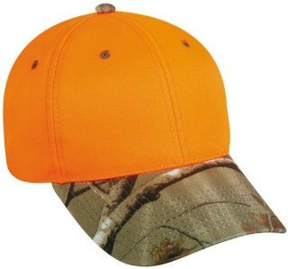 ODC 202IS BALL CAP BLAZE ORANGE HAT WITH REALTREE AP CAMO