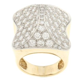 18k Yellow Gold 4 3/4ct TDW Diamond Estate Ring (G H, VS1 VS2