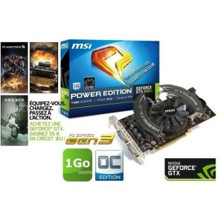 MSI GTX650 Ti 1Go GDDR5 OC Power Edition   Achat / Vente CARTE