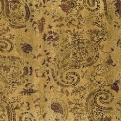 Lyndhurst Collection Paisley Beige/ Multi Rug (7 Square)