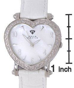 Aqua Master Womens Diamond Heart shaped Watch
