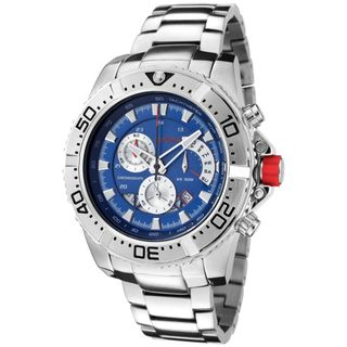 Red Line Mens Racer Stainless Steel Watch