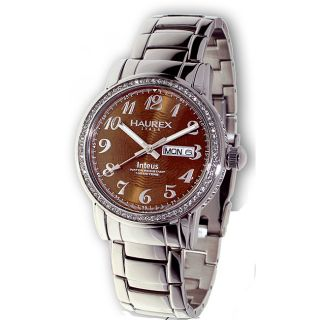 Haurex Italy Inteus Womens Crystal Watch Model # 2S276DM1