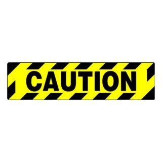 Accuform Signs PSD606 Caution Sign, 6 x 24In, BK/YEL, BLK, FL