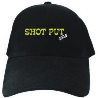 Shot Put GIRLS Black Baseball Cap Unisex Clothing
