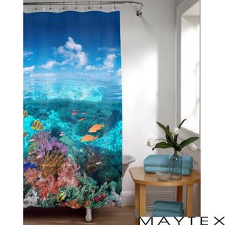 Maytex Under The Sea Photoreal Vinyl Shower Curtain