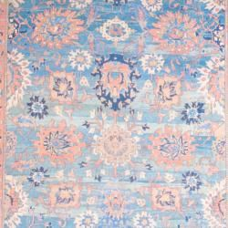 1950s Persian Hand knotted Vegetable Dye Mahal Light Blue/ Ivory Wool