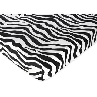 Sweet JoJo Designs Zebra Print Fitted Crib Sheet