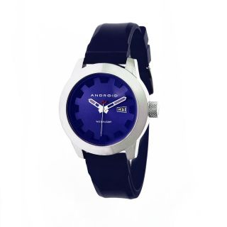 Android Men?s Antiforce Blue Rubber Strap Watch