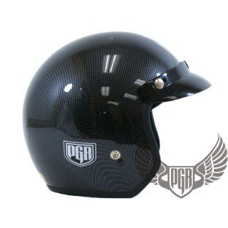 PGR 205 Retro Vintage Bobber Motorcycle Helmet DOT Approved (X Large