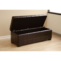 Routhledge Tufted Bi cast Leather Storage Bench