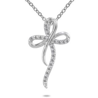 10k White Gold 1/4ct TDW Diamond Cross Pendant Today $231.99 4.5 (2