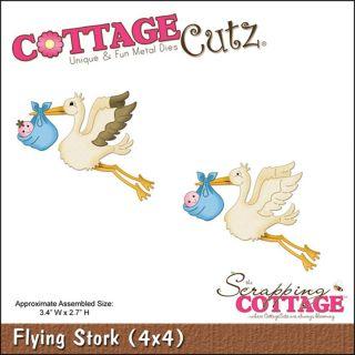 CottageCutz Die 4X4 Flying Stork