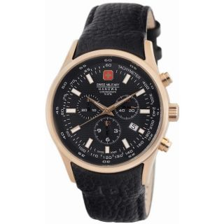 Swiss Military Mens Navalus Stainless Steel Rose Gold Chronograph