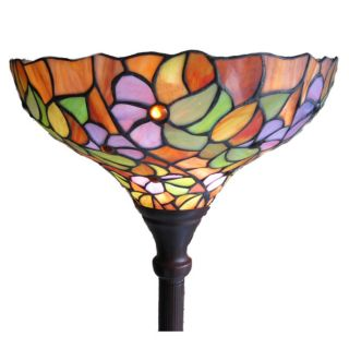 Tiffany style Multi flower Torchiere Lamp