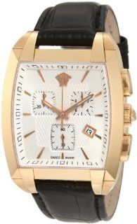 Versace Mens Tonneau Rose Gold Chronograph Watch Watches