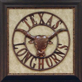 Antonio Iron Texas Longhorns Framed Metal Wall Art
