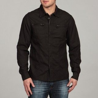 Ray Jeans Mens Dark Grey Woven Shirt