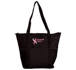 Nurses Care Pink Ribbon Tote Bag [Apparel] Clothing