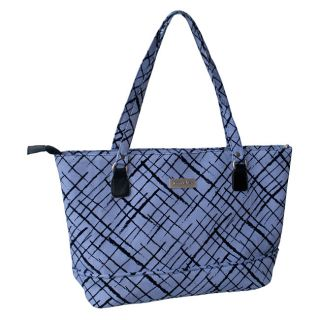 Jenni Chan Brush Strokes 17 inch Padded Blue Cotton Laptop Tote Today