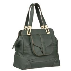 Chloe Mary Green Leather Satchel Bag