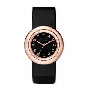 New MARC by MARC JACOBS MBM8558 Womens Rose Gold Tone Black Patent