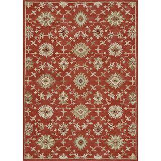 Hand tufted Wilson Red/ Orange Wool Rug