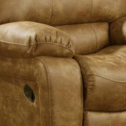 Montana Brown Reclining Sofa and Two Recliner/Glider Chairs