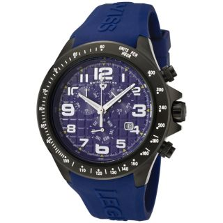Swiss Legend Mens Eograph Violet Blue Silicon Watch